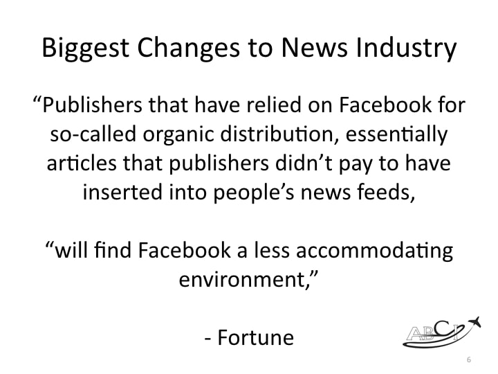 Less Facebook advertising is not a terrible thing,in our opinion.