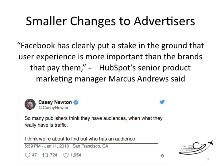 Facebook marketing - will favor quality over quantity!