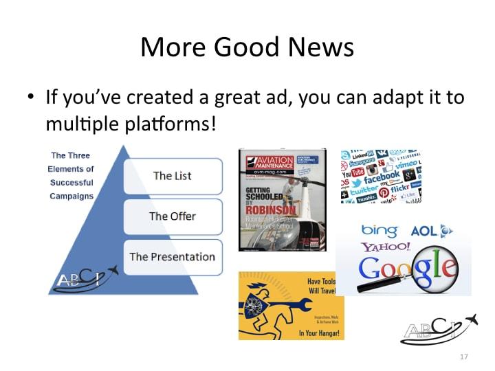 Aviation Facebook Marketing - adapt across multiple platforms