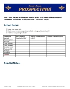 Aviation Prospecting Worksheet