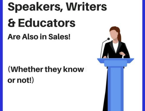 Aviation Writers, Speakers and Educators are Salespeople Too!
