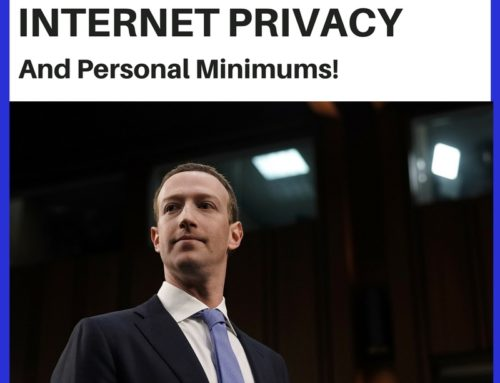 Mark Zuckerberg, Internet Privacy and Personal Minimums