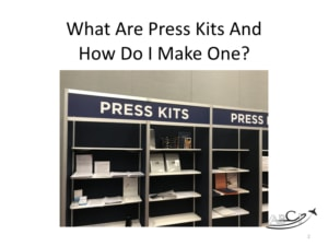 What is an aviation press kit and how do I make one?