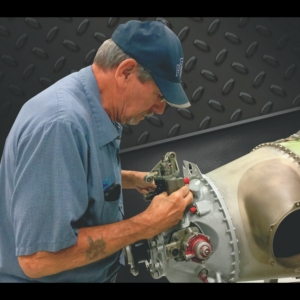 Working on a Pt6A engine