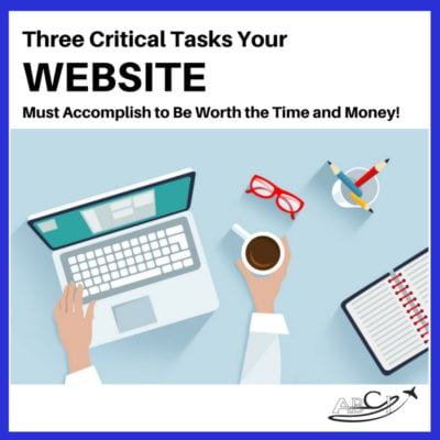 Three critical tasks your aviation website must accomplish