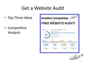 free aviation website audit