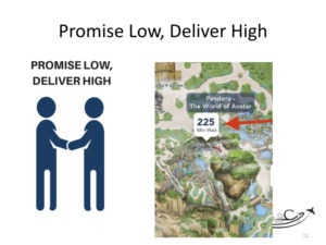 aviation marketing strategy - Three ideas from Disney - Promise low, deliver high!