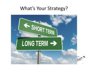 Short versus long term aviation marketing strategies.
