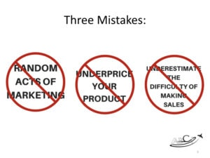 Aviation Marketing - Three Mistakes
