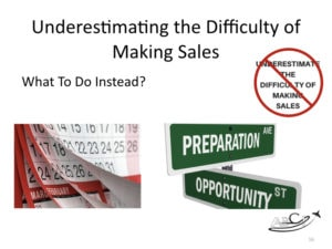 Aviation Marketing Mistake - Underestimating the DIfficulty of Making Sales