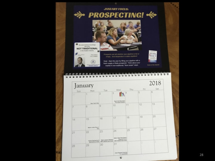 Aviation marketing course - calendar