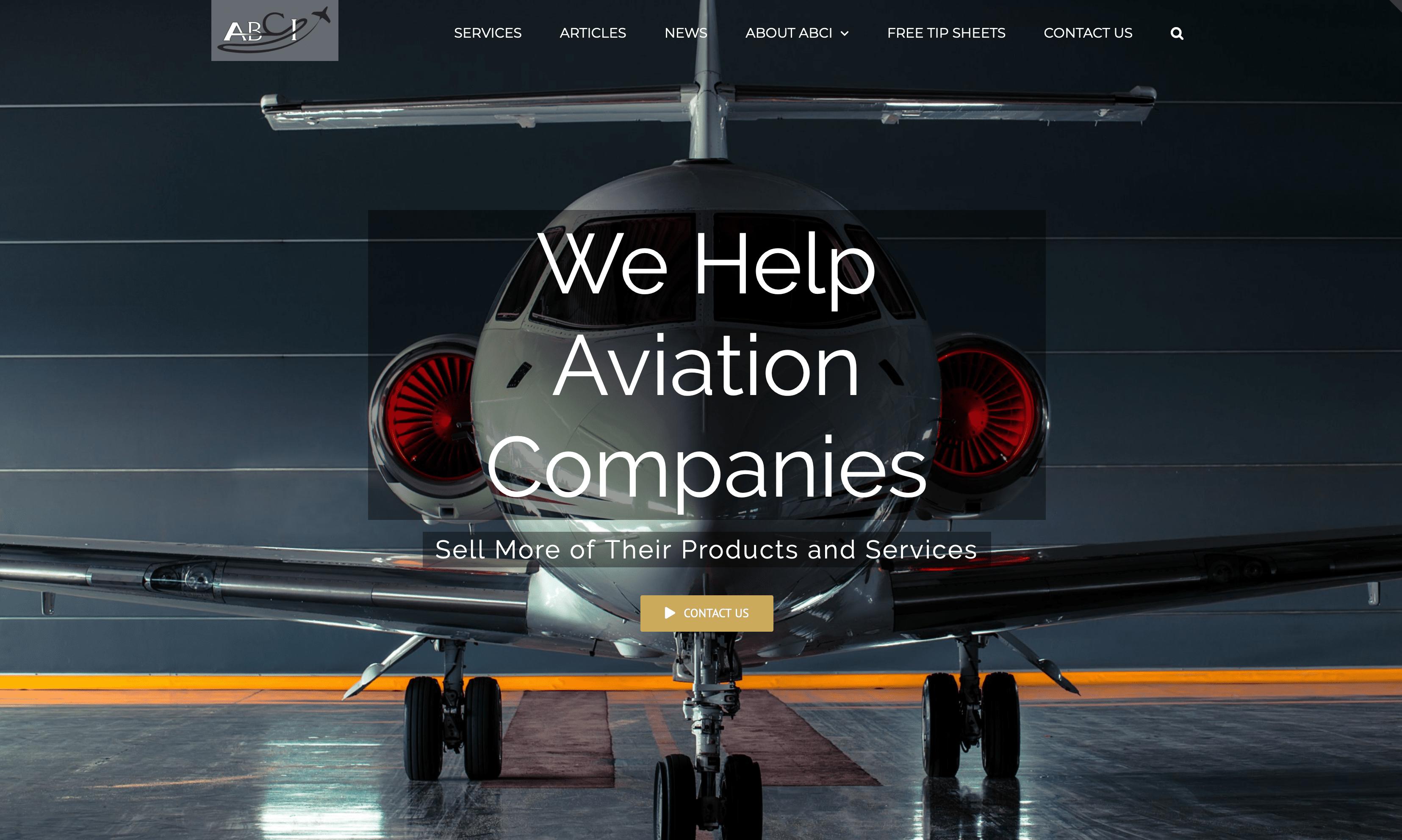 Aviation Website - Aviation Marketing by ABCI