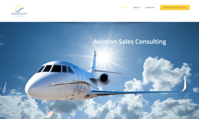 Aviation web site for Seabright Sales Company