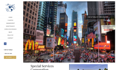 Aviation web site for Special Services Corporation