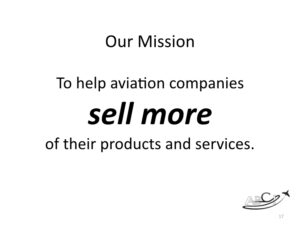 ABCI's mission - to help aviation companies sell more of their products and services.