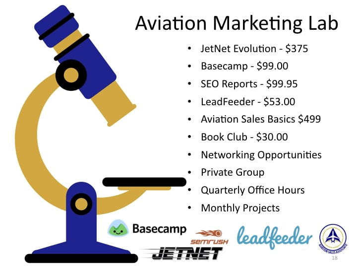 Aviation marketing package