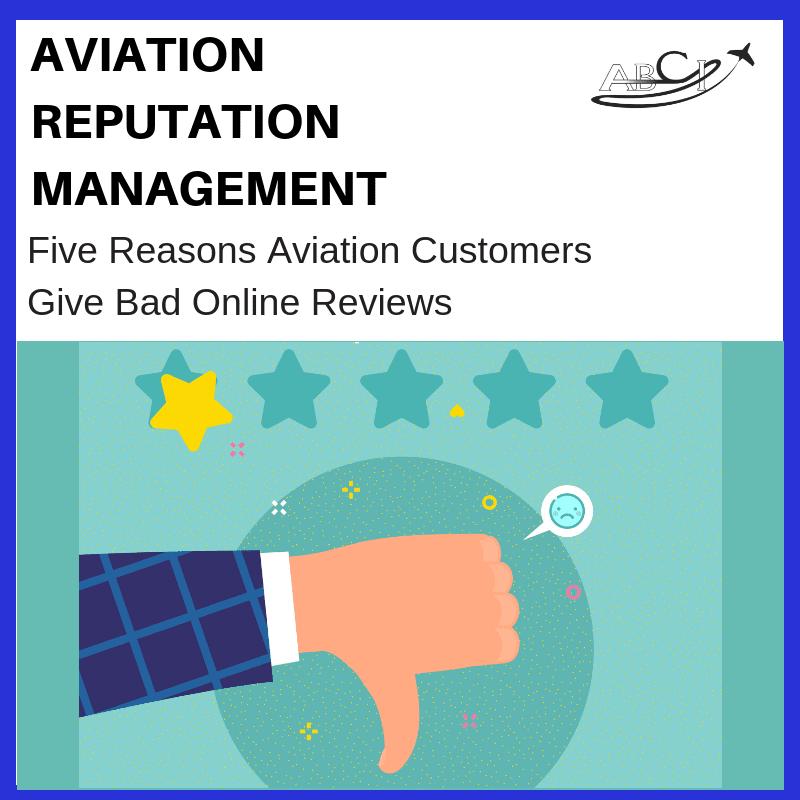 Five Reasons Aviation B2B Customers Give Bad Reviews