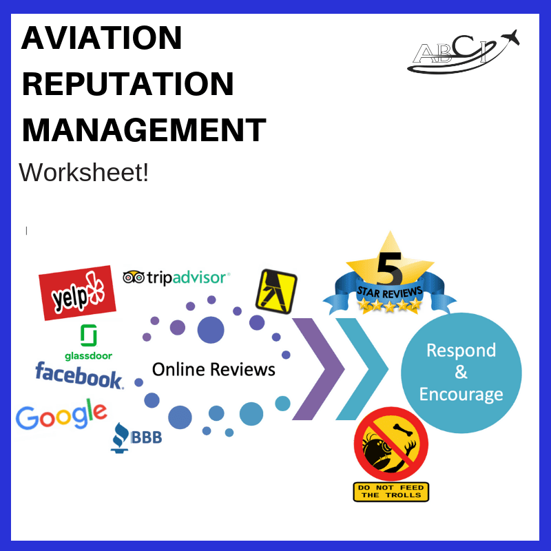 Aviation Reputation Management Worksheet