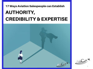 Our advice for aviation consultants, brokers and service providers -acquire ACE markers - Authority, credibility & expertise.