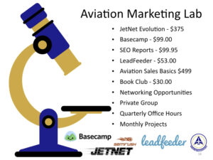 aviation marketing for brokers, consultants and service providers
