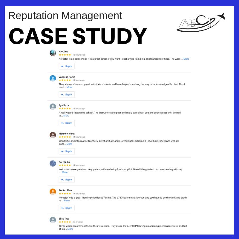 Aviation Reputation Management - Case Study