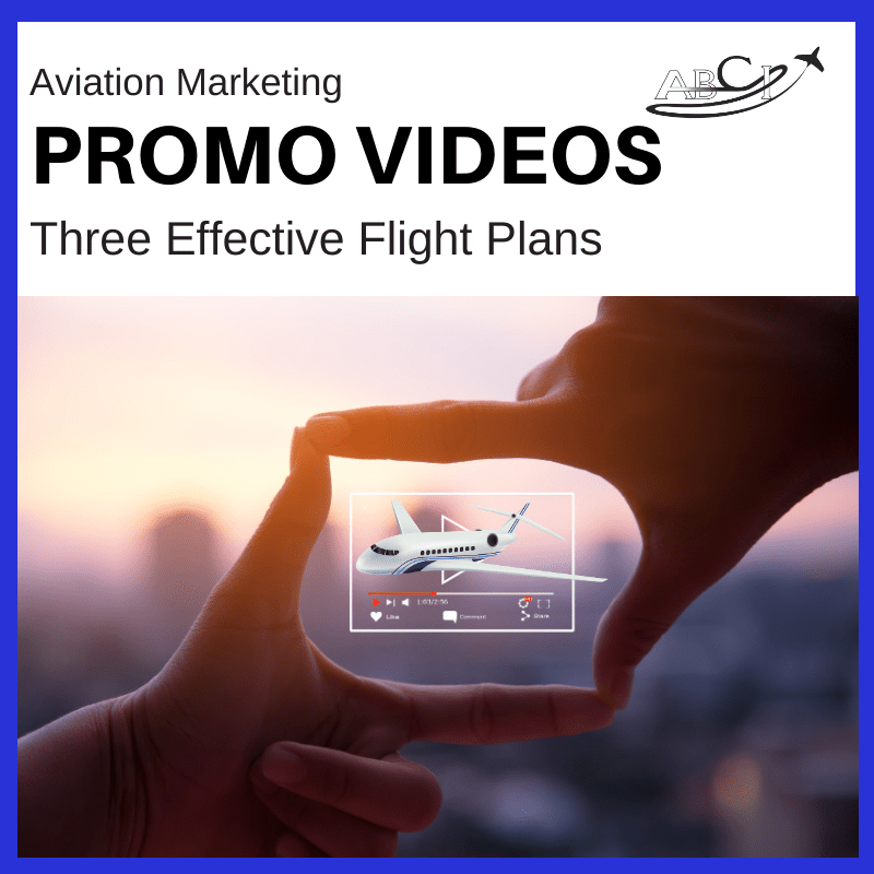 Aviation promo videos - three flight plans