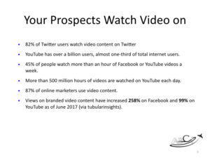 Aviation promo videos - your prospects are watching video!