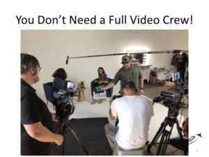 Promo videos for charter marketing - you don't need a full video cew.
