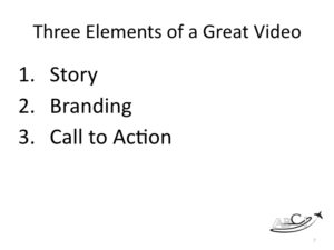 Marketing for Brokers and aviation consultants - three elements of great video