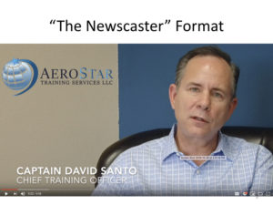 Marketing for Brokers and aviation consultants - the newscaster format
