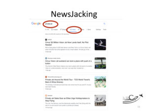 Marketing for Brokers and aviation consultants - newsjacking