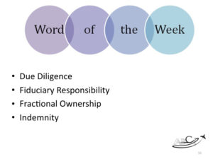 Marketing for Brokers and aviation consultants - word of the week