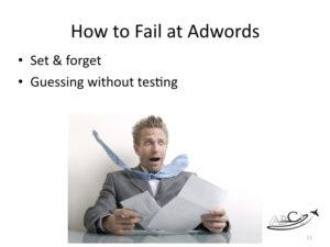 How to Fail at Google Adwords