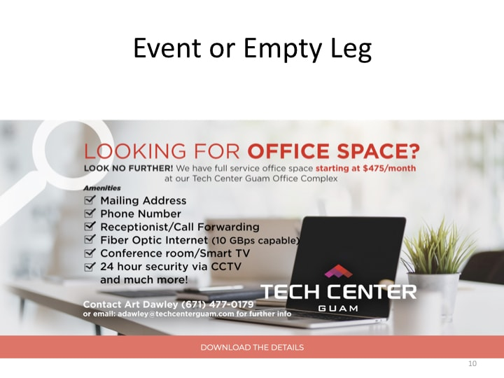 Use Google Adwords to Advertise an Event, Empty Leg, or Vacant Office.