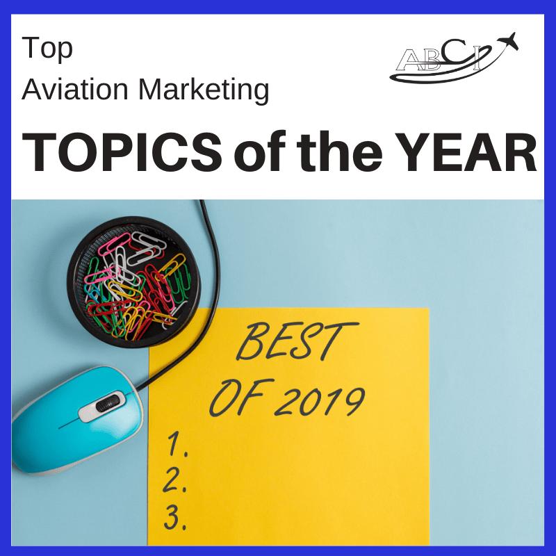 Top three aviation marketing topics of 2019