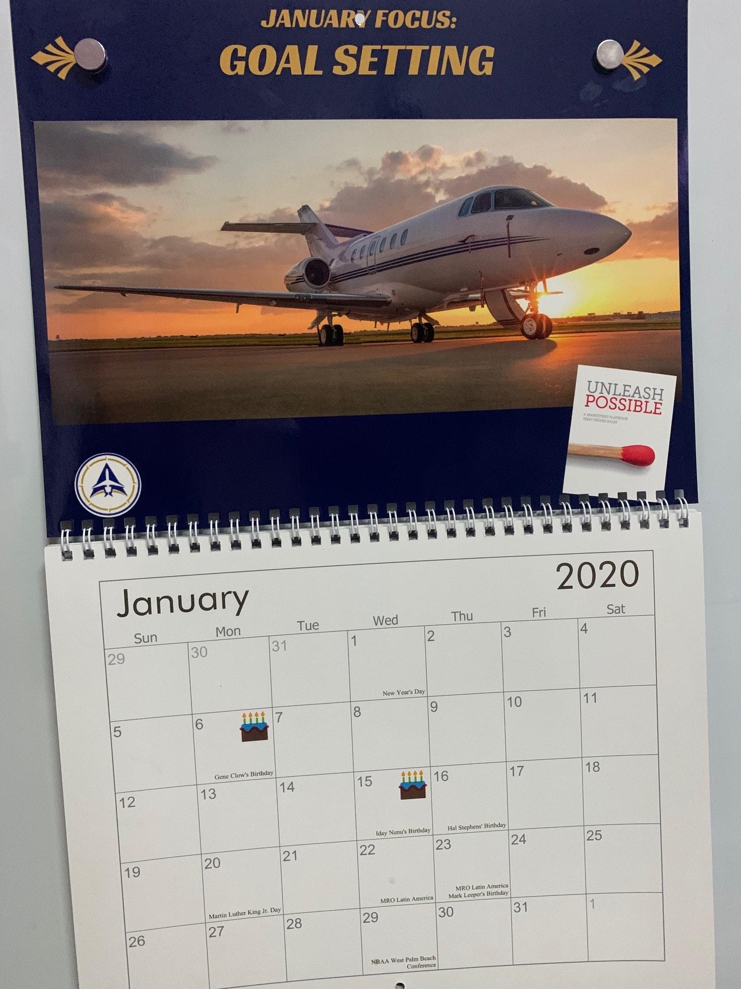 2020 Aviation Marketing Calendar