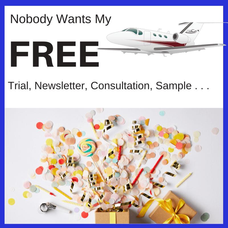 Aviation Marketing Problems - Nobody Wants My Freebie!