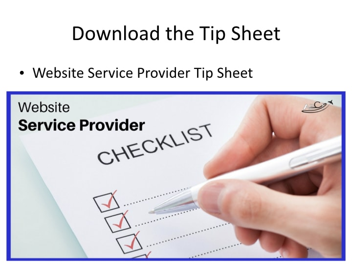 What do you need your service provider to do so that you have a great aviation web site?