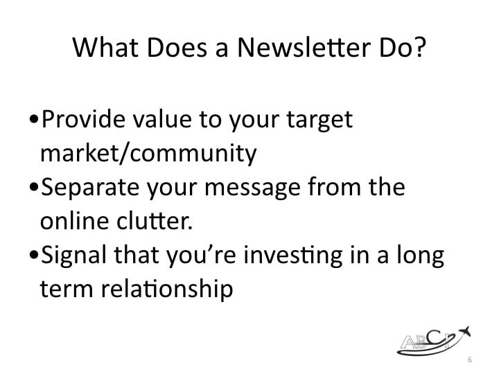 What does a printed newsletter do?