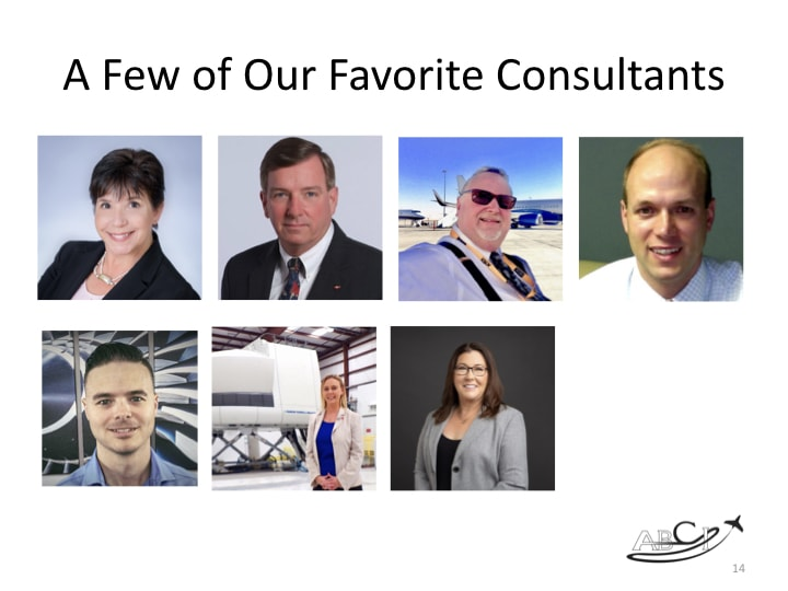 Book Club Discussion - The Irresistible Consultant's Guide to Winning Clients - A few of our favorite aviation consultants