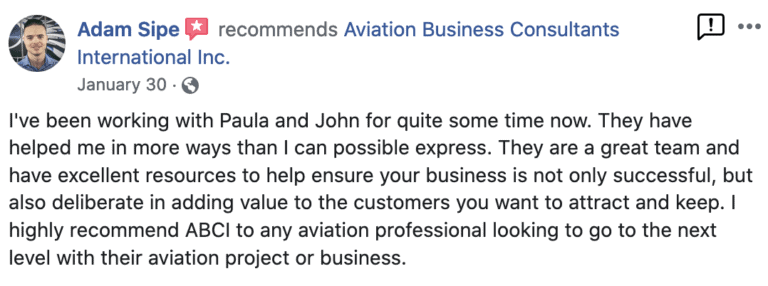 Reviews for Aviation Marketing by ABCI