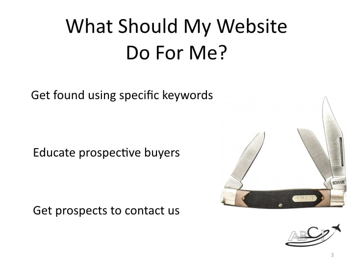 What Should My Website do for me? The Basics