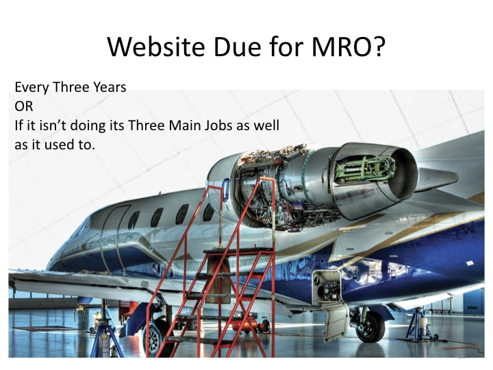 Aviation Websites - Due for MRO?