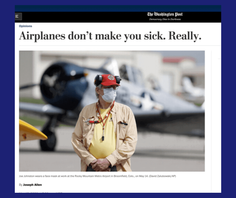 airplanes don't make you sick