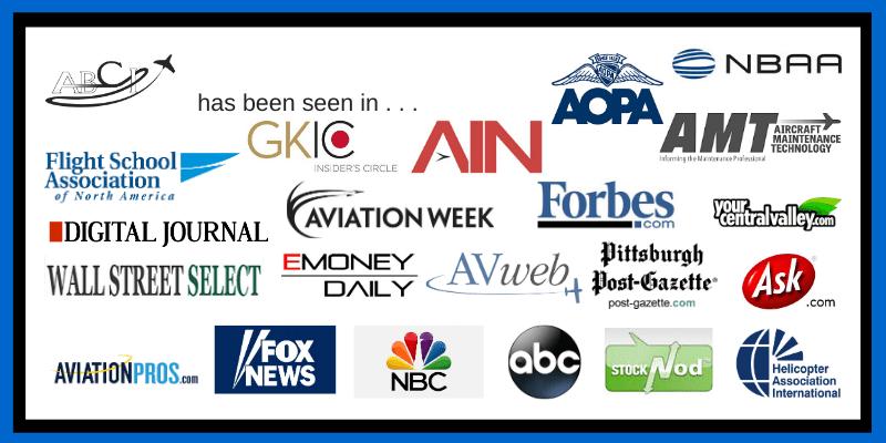 ABCI has been seen in AIN, NBAA, FSANA, Forbes, AOPA, Aviation Week . . .