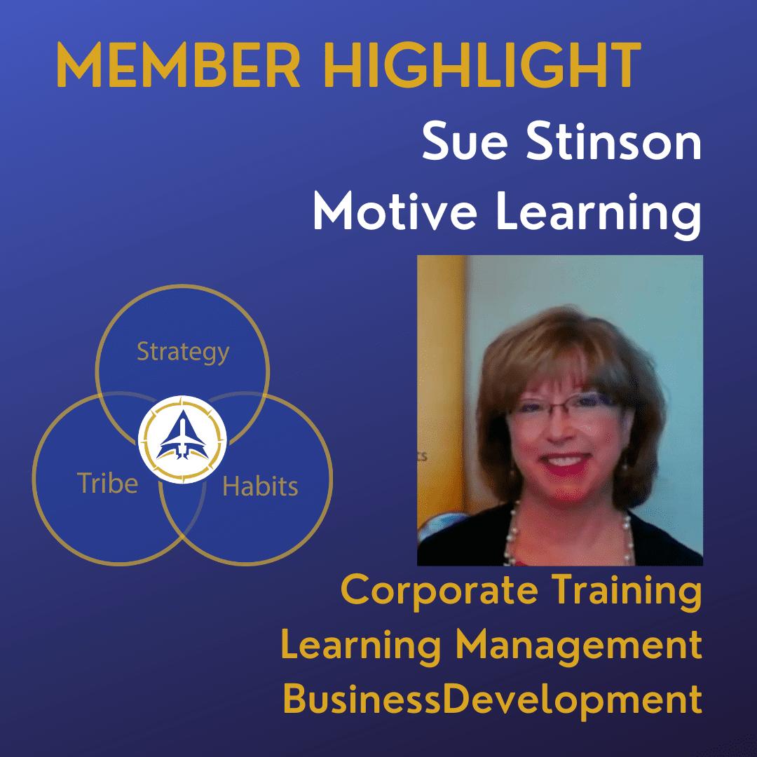 Sue Stinson, Director of Business Development, Motive Learning