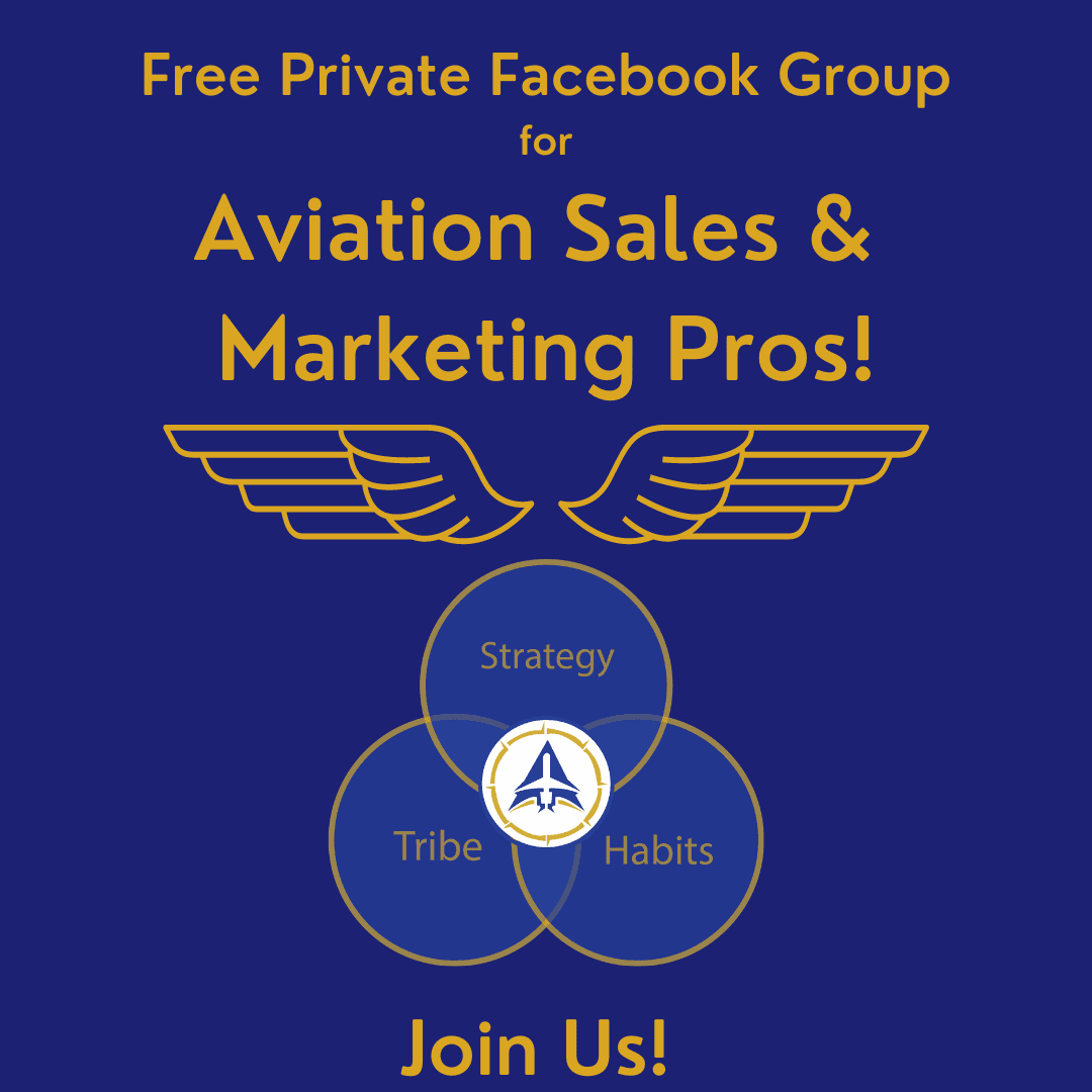 Join our Facebook Group for Aviation Sales & Marketing Pros