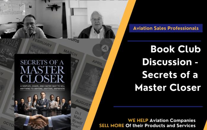 Book Club Discussion - Secrets of a Master Closer