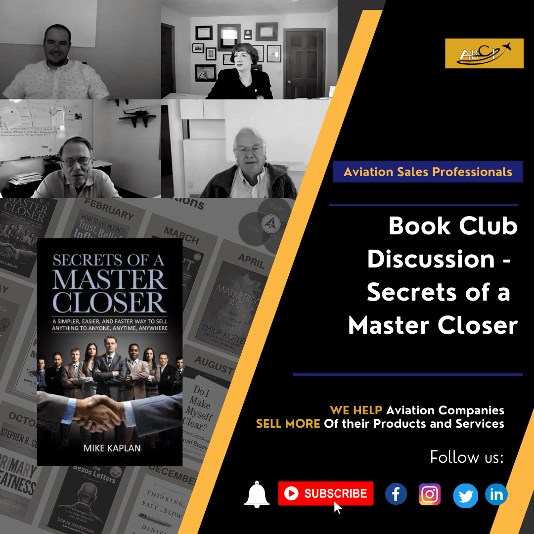 Book Club Discussion - Secrets of a Master Closer