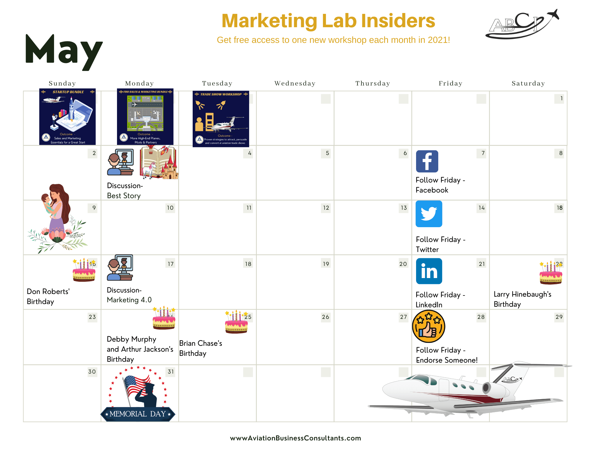 Aviation Marketing Events in May 2021